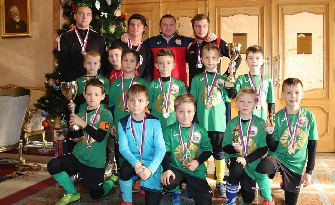 Our budding team of young footballers